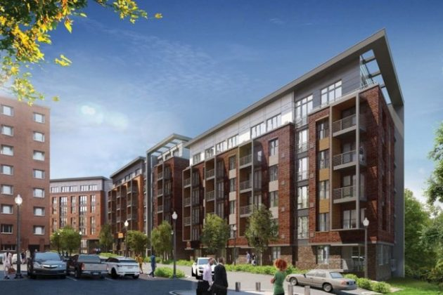 Rendering of new apartment building