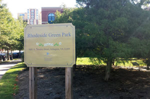 Rhodeside Green Park in Rosslyn (photo via Arlington County)