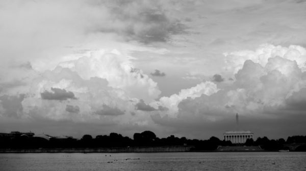 Clouds over the monuments (Flickr pool photo by John Sonderman)
