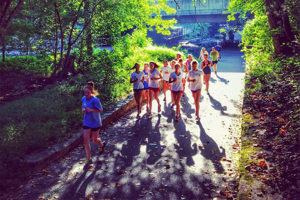 Runners in Bluemont Park (Flickr pool photo by Dennis Dimick)