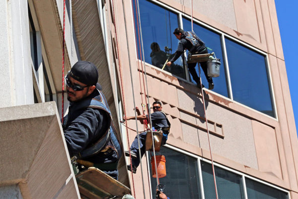 Window washers in Ballston