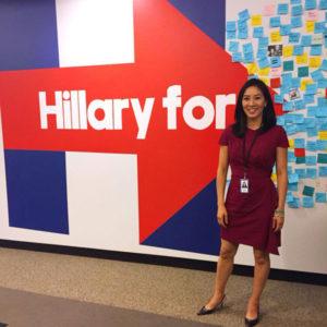 Michelle Kwan, photo via Twitter : Hillary for VA
