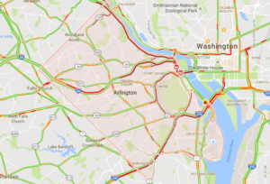 Google traffic map on 8/15/16