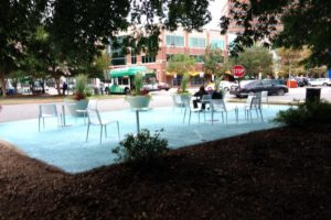 Pop-up plaza in Courthouse