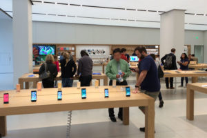 Clarendon Apple Store after its reopening (file photo)