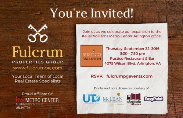 Fulcrum Properties Group event banner
