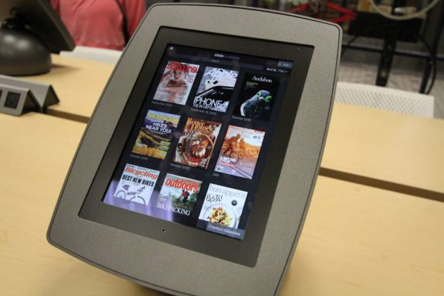 A tablet at the pop-up library in Crystal City (file photo)
