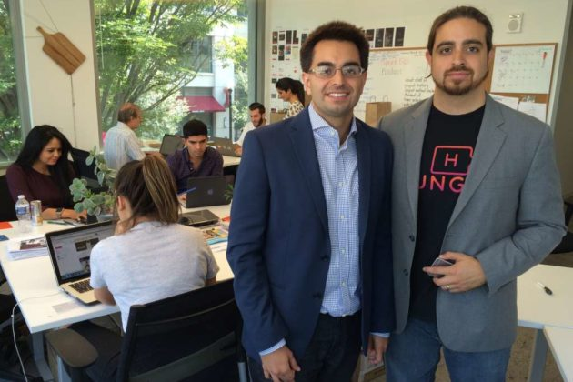 Shy and Eman Pahlevani of Clarendon-based startup Hungry