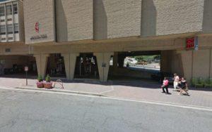 Sunoco gas station underneath the Arlington Temple United Methodist Church (photo via Google Maps)
