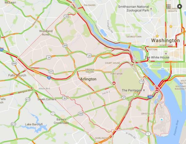"""Terrible traffic Tuesday"" road conditions at 8:45 a.m. on 9/6/16"