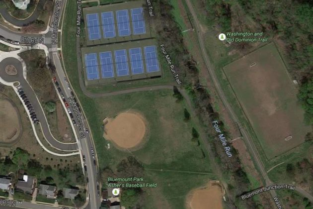 Existing field at Bluemont Park (photo via Google Maps)