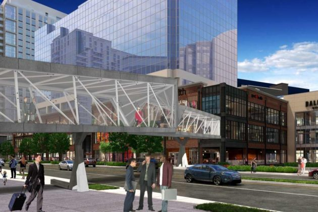 Ballston pedestrian bridge rendering (via Forest City)