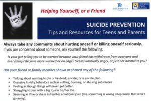 APS Suicide Prevention Flyer