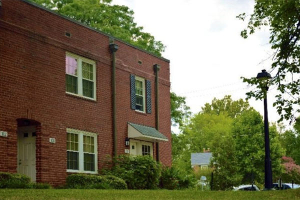 Westover garden apartment building (Photo via Arlington Partnership for Affordable Housing)