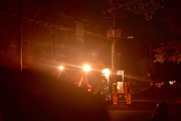 Transformer fire on Lee Highway at N. Culpeper Street (photo courtesy Andrew Pang)