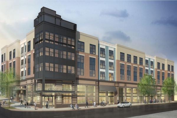 Rendering of condo building planned for 4707 Columbia Pike