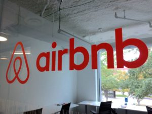 Airbnb logo at MakeOffices Clarendon