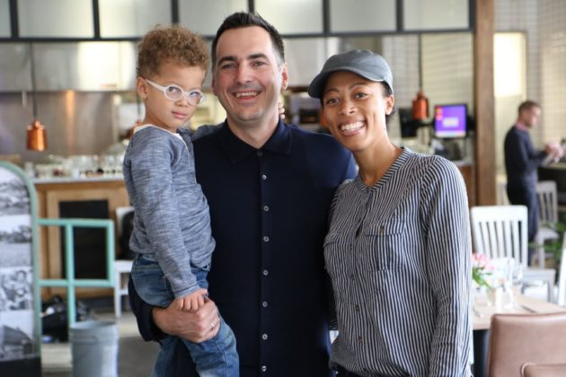 Ambar owner Ivan Iricanin with his son and wife, Nya Gill