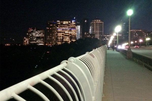 Rosslyn at night, as seen from the Key Bridge