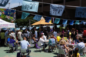 Oktoberfest Beer Garden, photo via Rosslyn BID