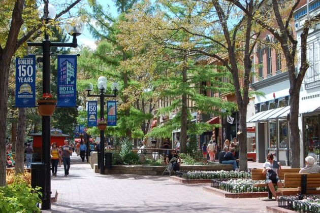 Pedestrian-only street in Boulder, Colorado (photo courtesy Arlington County)