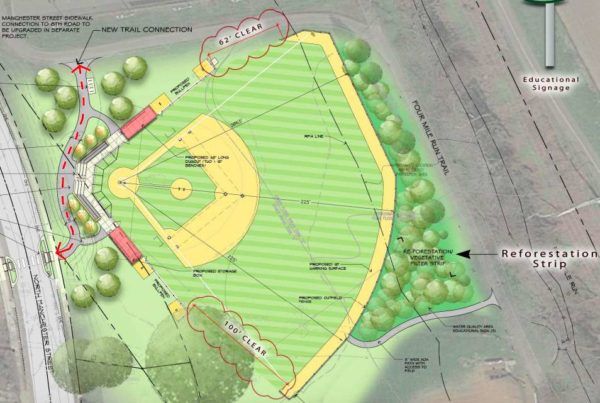 Revised Bluemont Park baseball field plan
