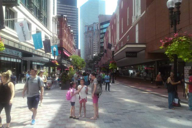 Shared street type in Boston (photo courtesy Arlington County)