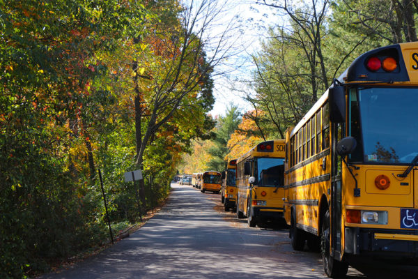 School Buses on Arlington Mill Drive and 29th Street South