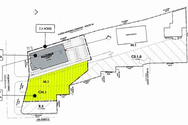 N. Quincy Street site for proposed land swap