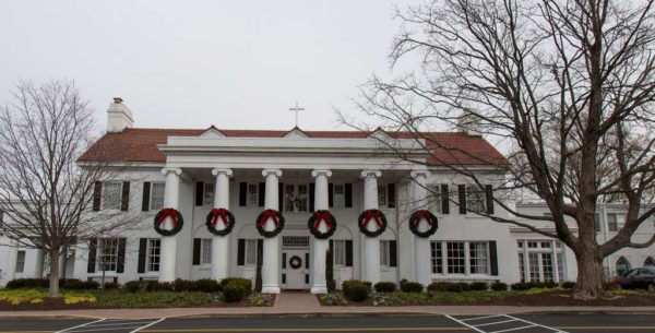 Marymount University main house during Christmastime (Flickr pool photo by Eric)