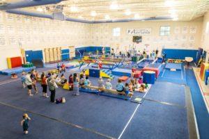 Gymnastics programs at Barcroft (photo via Arlington County)
