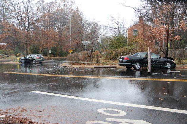 Crash on N. George Mason Drive at Yorktown Blvd