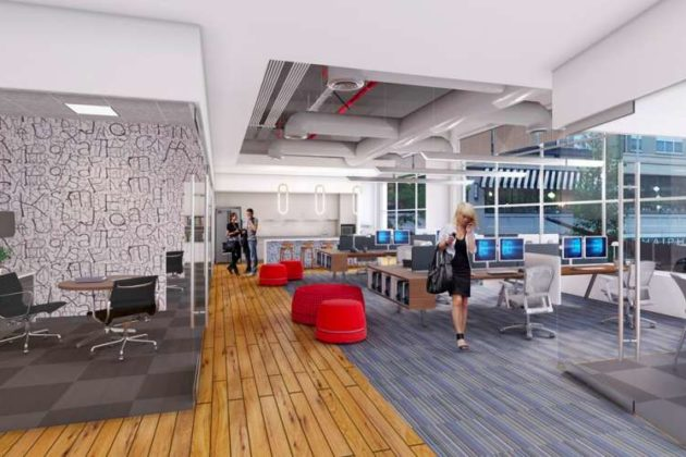 Pentagon Row office space for lease (rendering)