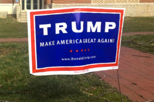 Donald Trump for president sign