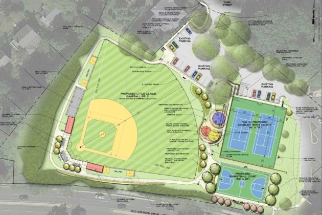 Planned changes to Stratford Park (image via Arlington County)