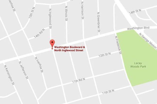Map of Washington Blvd and N. Inglewood Street (via Google Maps)