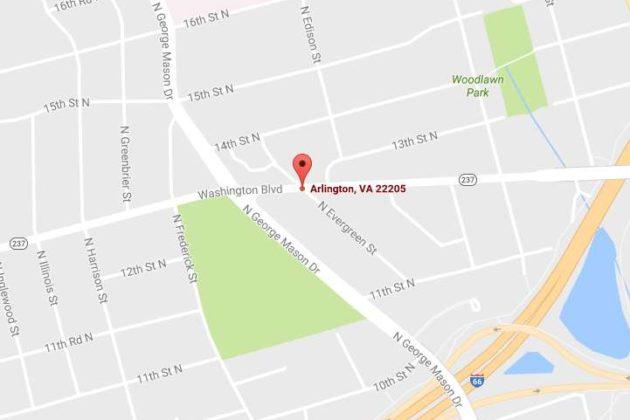 Washington Blvd / N. Evergreen Street (image via Google Maps)