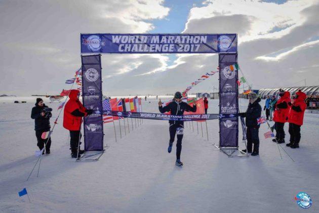 Michael Wardian competing in the World Marathon Challenge (photo via Facebook)