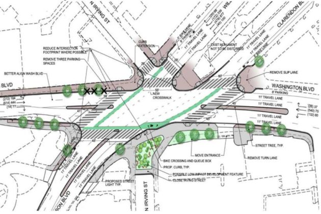 Plans for the Clarendon Circle improvements (via Arlington County)