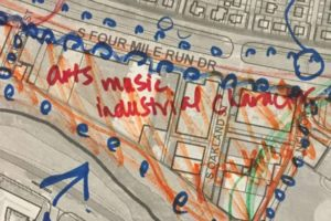 Four Mile Run Valley arts area concept sketch (via Arlington County)