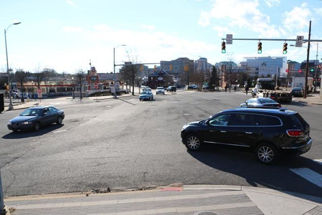 """Clarendon Circle"" intersection on 1/26/17 (file photo)"