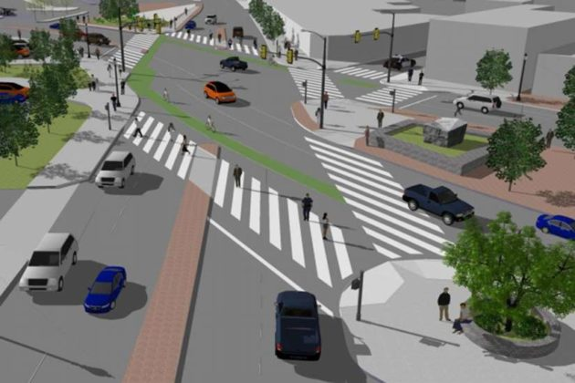 Rendering of the Clarendon Circle improvements (via Arlington County)