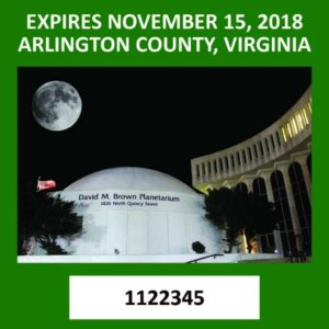 Decal Contest winner Arlington Sees Stars, image via Arlington County