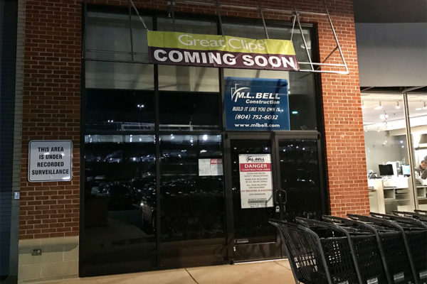 Future Great Clips location on Pentagon Row