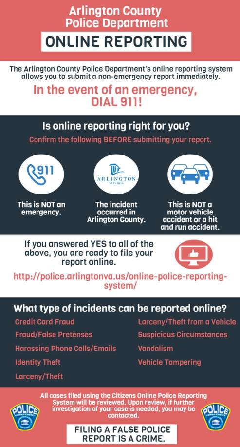Online Reporting Ready Arlington