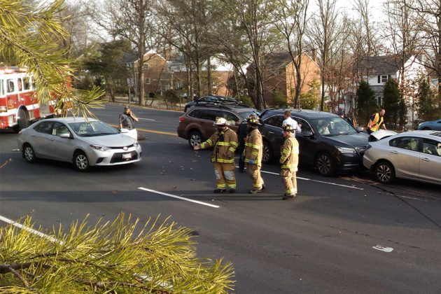 Crash on Route 50 at N. Columbus Street (photo courtesy Michael Thomas)