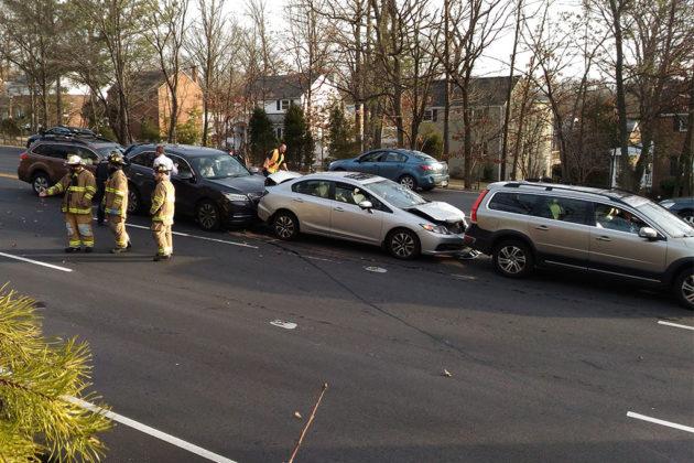 Crash on Route 50 at N. Columbus Street (photo courtesy Michael Thomas)