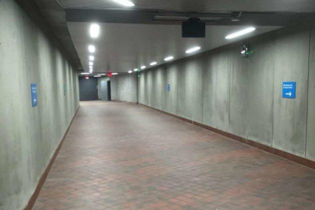 Pentagon City Metro pedestrian tunnel (photo via Arlington County)