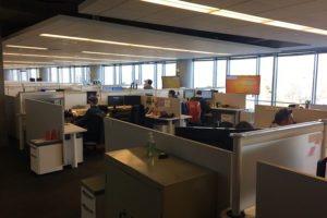 Cubicles at Snagajob offices in Rosslyn
