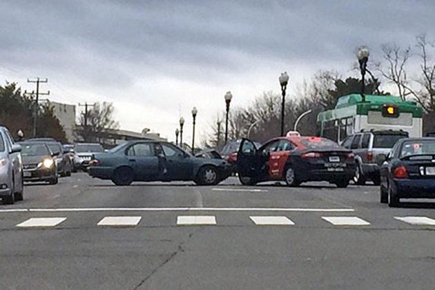 Crash on Columbia Pike at S. Dinwiddie Street (photo courtesy @CFCA_Arlington)